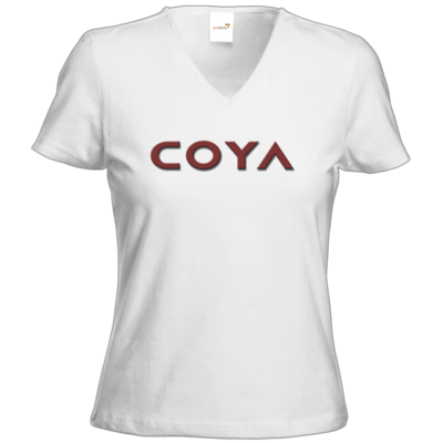 Motiv: T-Shirt Damen V-Neck Classic - Coya Logo