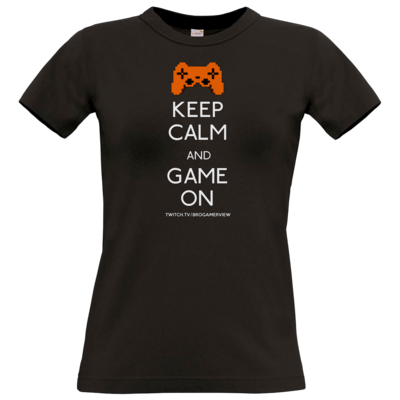 Motiv: T-Shirt Damen Premium FAIR WEAR - Keep Calm Game On