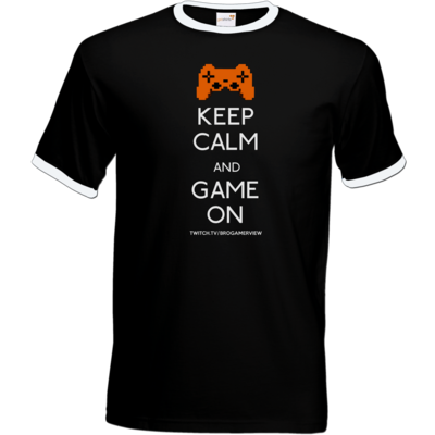 Motiv: T-Shirt Ringer - Keep Calm Game On