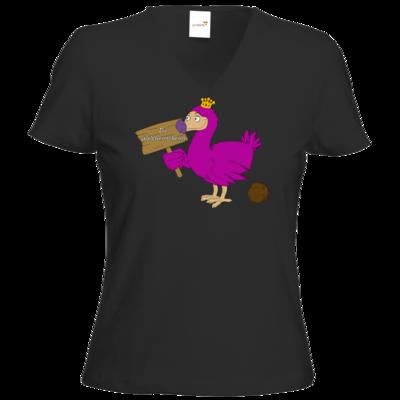 Motiv: T-Shirt Damen V-Neck Classic - Motiv Weltherrscherin