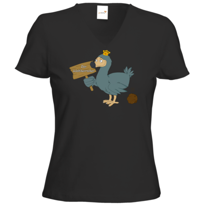 Motiv: T-Shirt Damen V-Neck Classic - Motiv Weltherrscher