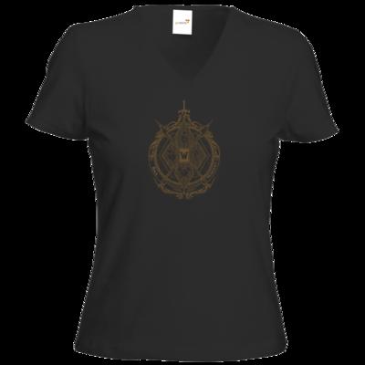 Motiv: T-Shirt Damen V-Neck Classic - B2W Wappen Color