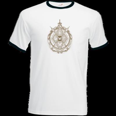 Motiv: T-Shirt Ringer - B2W Wappen Color