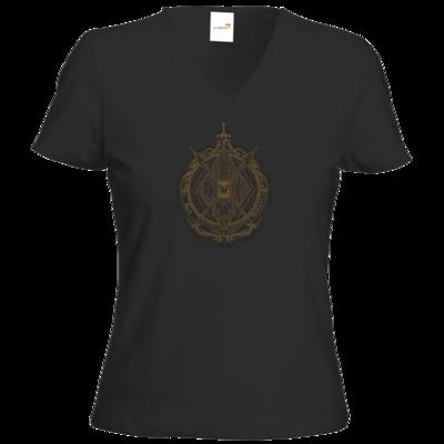 Motiv: T-Shirt Damen V-Neck Classic - B2W Wappen Black
