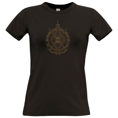 Motiv: T-Shirt Damen Premium FAIR WEAR - B2W Wappen Black