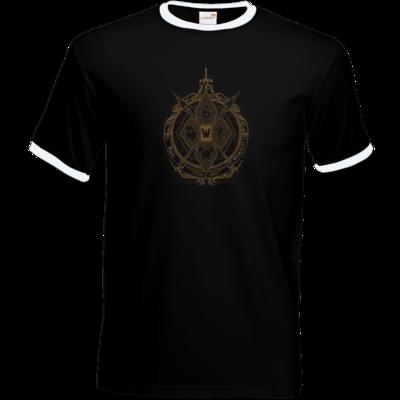 Motiv: T-Shirt Ringer - B2W Wappen Black