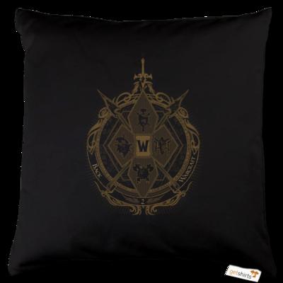Motiv: Kissen Baumwolle - B2W Wappen Black