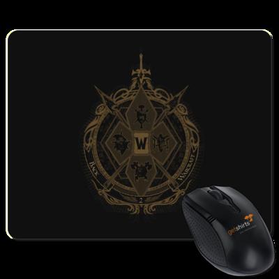 Motiv: Mousepad Textil - B2W Wappen Black