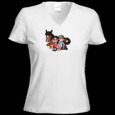 Motiv: T-Shirt Damen V-Neck Classic - Motiv 3