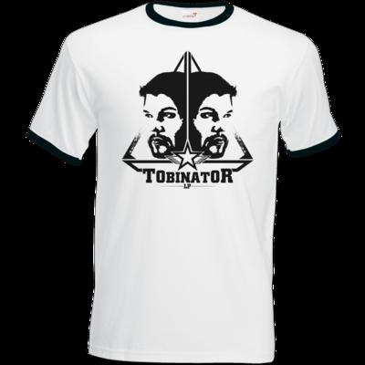 Motiv: T-Shirt Ringer - StarBadge dark