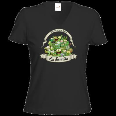 Motiv: T-Shirt Damen V-Neck Classic - LaFamilia