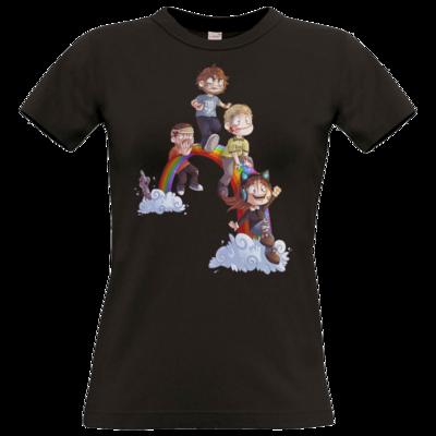 Motiv: T-Shirt Damen Premium FAIR WEAR - Dead by Daylight - Regenbogen