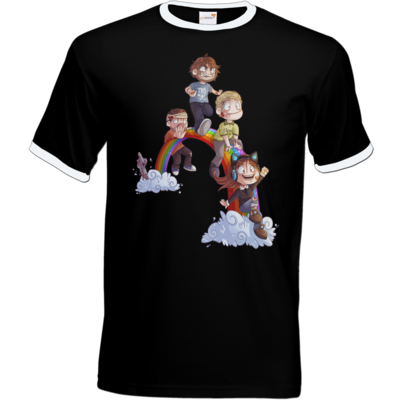 Motiv: T-Shirt Ringer - Dead by Daylight - Regenbogen