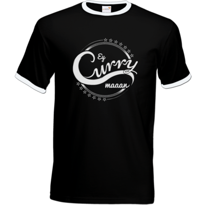 Motiv: T-Shirt Ringer - Ey Curry Maaan