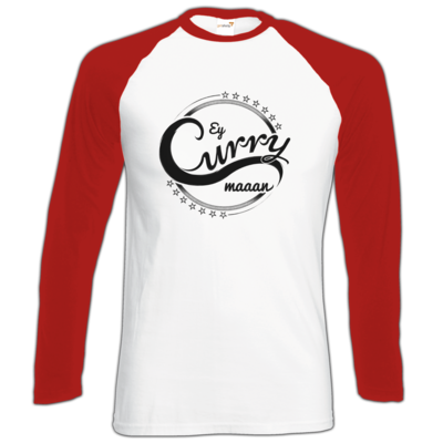 Motiv: Longsleeve Baseball T - Ey Curry Maaan
