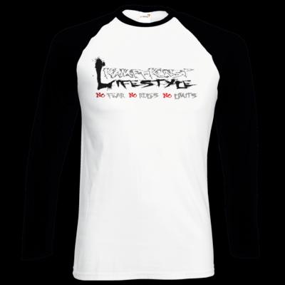 Motiv: Longsleeve Baseball T - Kampfkunst Lifestyle - Logo 1