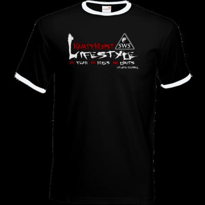 Motiv: T-Shirt Ringer - Kampfkunst Lifestyle - Logo 2