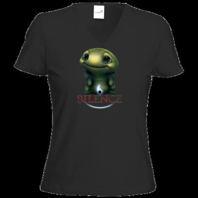 Motiv: T-Shirt Damen V-Neck Classic - Silence - Spot 1