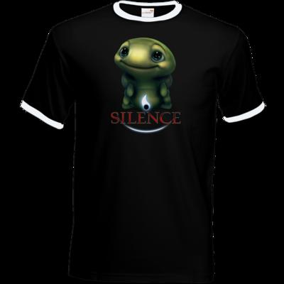 Motiv: T-Shirt Ringer - Silence - Spot 1