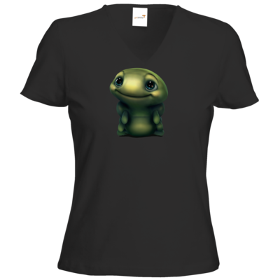Motiv: T-Shirt Damen V-Neck Classic - Silence - Spot 2