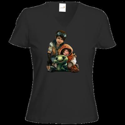 Motiv: T-Shirt Damen V-Neck Classic - Silence - Group 2