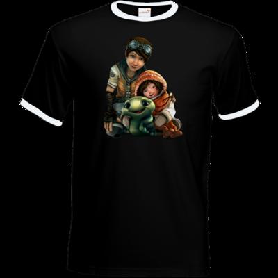 Motiv: T-Shirt Ringer - Silence - Group 2