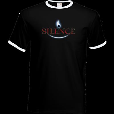 Motiv: T-Shirt Ringer - Silence - Logo