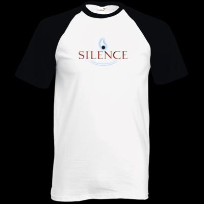 Motiv: TShirt Baseball - Silence - Logo