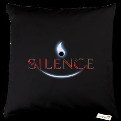 Motiv: Kissen Baumwolle - Silence - Logo