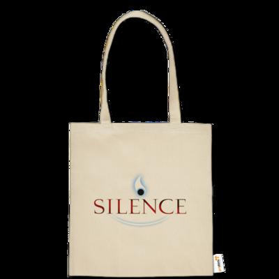 Motiv: Baumwolltasche - Silence - Logo