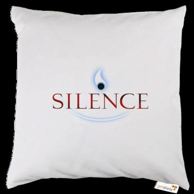 Motiv: Kissen - Silence - Logo