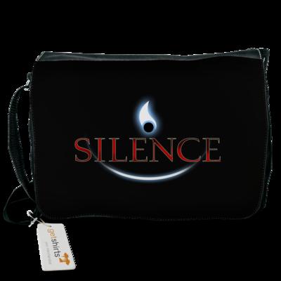 Motiv: Schultertasche - Silence - Logo