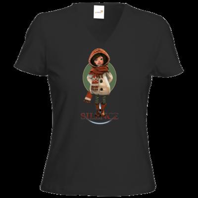 Motiv: T-Shirt Damen V-Neck Classic - Silence - Renie