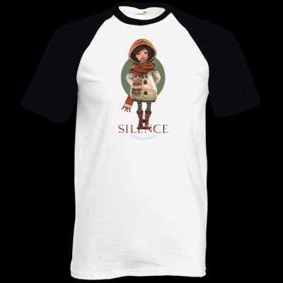 Motiv: TShirt Baseball - Silence - Renie