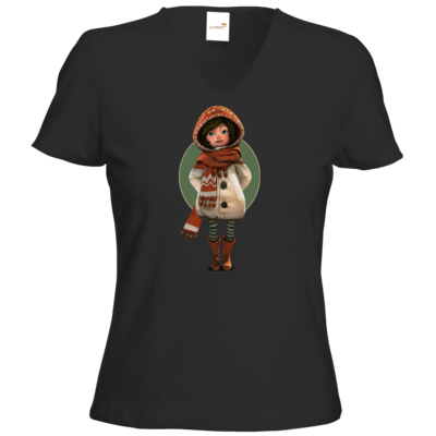 Motiv: T-Shirt Damen V-Neck Classic - Silence - Renie 2