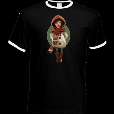 Motiv: T-Shirt Ringer - Silence - Renie 2