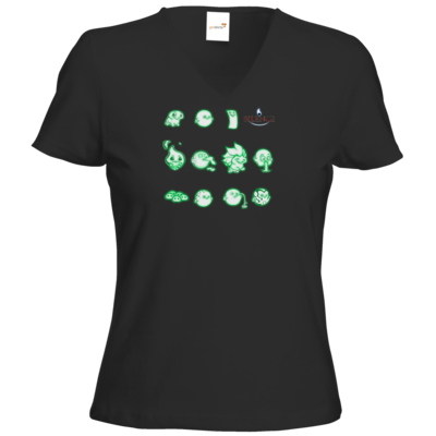 Motiv: T-Shirt Damen V-Neck Classic - Silence - Icons