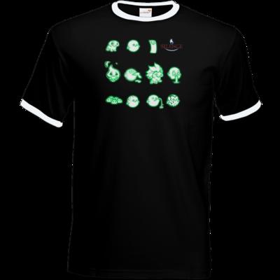 Motiv: T-Shirt Ringer - Silence - Icons
