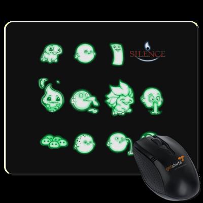 Motiv: Mousepad Textil - Silence - Icons