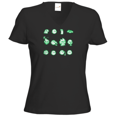 Motiv: T-Shirt Damen V-Neck Classic - Silence - Icons 2