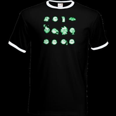 Motiv: T-Shirt Ringer - Silence - Icons 2