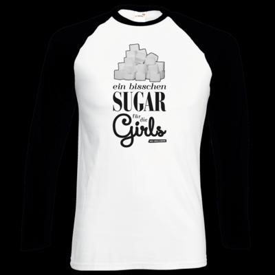 Motiv: Longsleeve Baseball T - Sugar für die Girls
