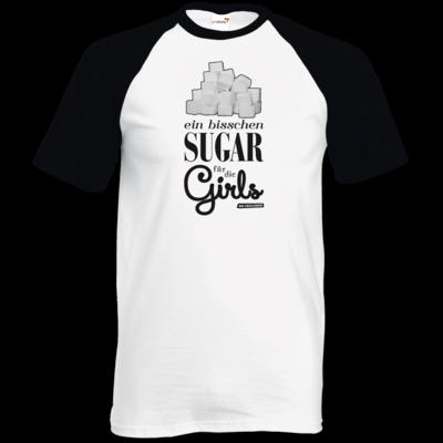 Motiv: TShirt Baseball - Sugar für die Girls