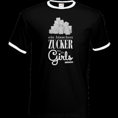 Motiv: T-Shirt Ringer - Zucker für die Girls