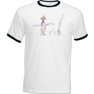 Motiv: T-Shirt Ringer - Die Grillshow - Zeichnung