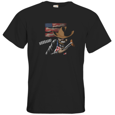 Motiv: T-Shirt Premium FAIR WEAR - Die Grillshow - Hüüüaah