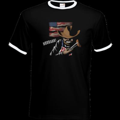Motiv: T-Shirt Ringer - Die Grillshow - Hüüüaah