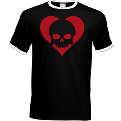 Motiv: T-Shirt Ringer - Piratenherz