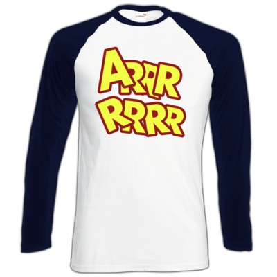 Motiv: Longsleeve Baseball T - ARRRRRRR
