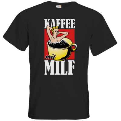 Motiv: T-Shirt Premium FAIR WEAR - Kaffee mit MILF